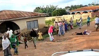 """""""I'm one of the people on Earth that answers the same name with God Almighty"""" Oluwo of Iwo writes as woman throws herself on the road in respect, as his convoy passes (video)"""