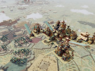 a beautiful, skybound city-builder that's a touch too pleasant