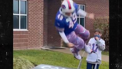 Buffalo Bills Fan Smashes Table After Smashing Cancer, Epic Video!