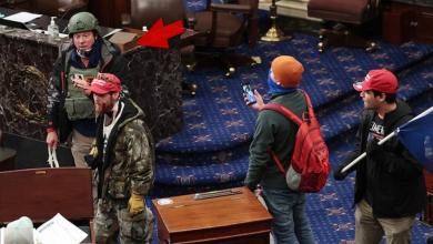 Retired Lieutenant Colonel With Zip Ties Part of Capitol Mob