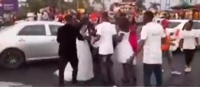 Bride finds out on wedding day that groom is having affair with bridesmaid (Video)