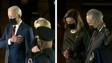 President Biden, First Lady Pay Respects to Capitol Officer in Rotunda