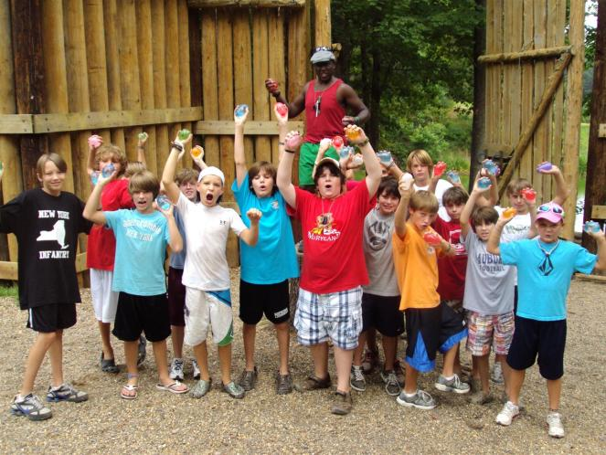 Counselors-006- The boys are ready for the water balloon war