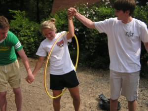 Counselors-in-training team building