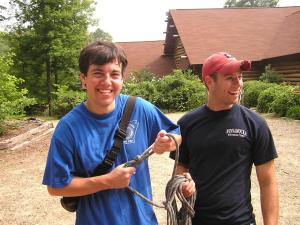 Camp Winnamocka counselors-in-training smile big