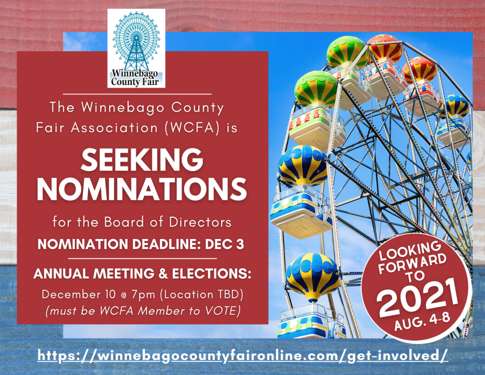 WCFA is seeking nominations for their board of directors.