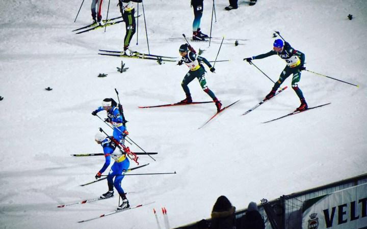 Aflossing Ole Einar Bjørndalen/Darja Domratsjeva en Dorothea Wierer/Lukas Hofer