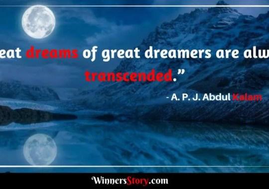 APJ Abdul Kalam quotes on dream