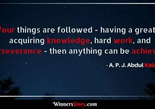 A.P.J Abdul Kalam quotes on habits
