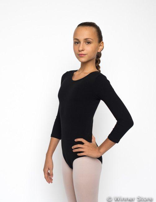 Купальник гимнастический KG52, черный – цена, фото