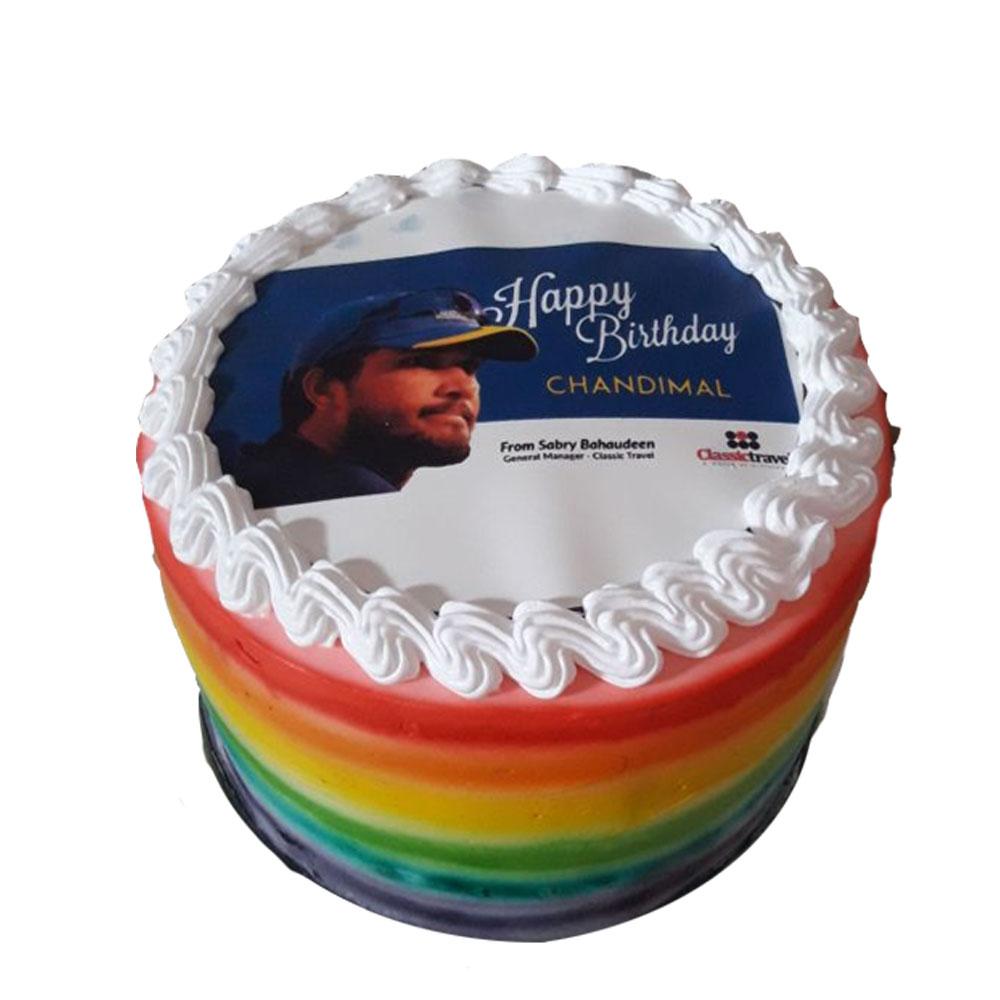 We Delivery Rainbow Cake For Dinesh Chandimal Birthday Winni