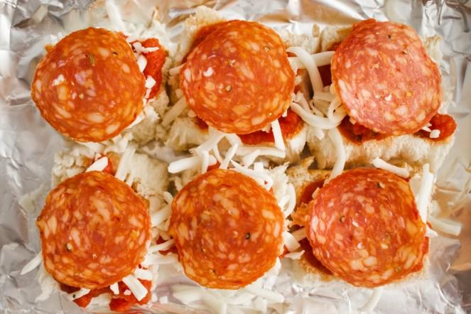 Baked Hawaiian Roll Pizza Sliders