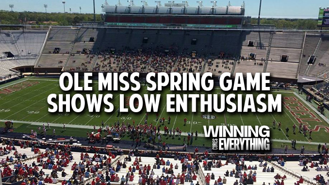 Ole Miss: Football Enthusiasm is in Serious Trouble
