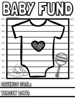 Keep track of your progress as you save money for your new baby with this coloring chart.