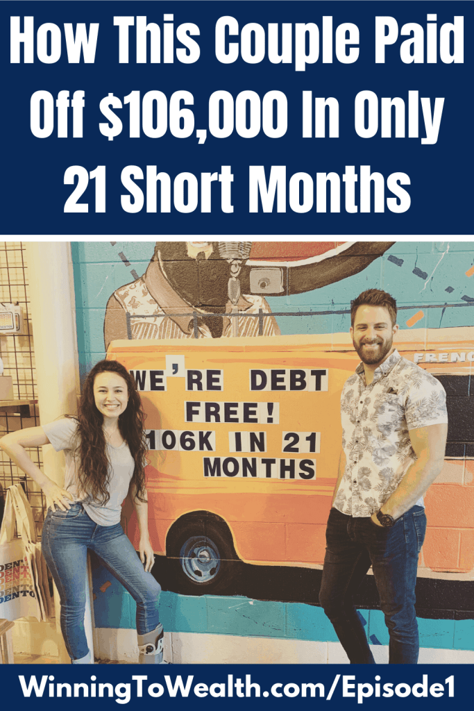 This young couple paid off $106k in debt. The debt they paid off was car loans and student loans. Check out the story of their debt-free journey here.