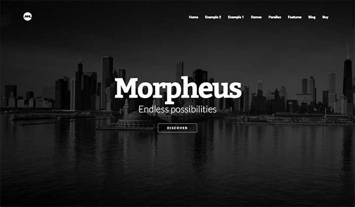 Morpheus - One-Page WordPress Theme