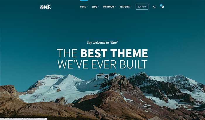 One - One-Page WordPress Theme