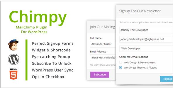 header image of Chimpy WordPress plugin for mailchimp