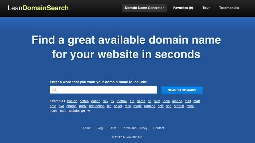 Генераторы доменных имен: LeanDomainSearch
