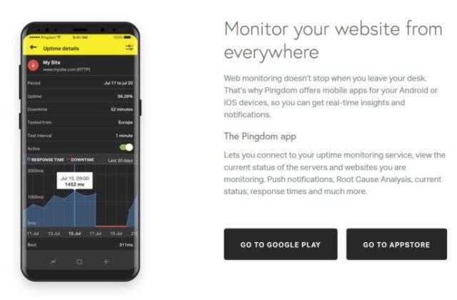 Pingdom mobile app