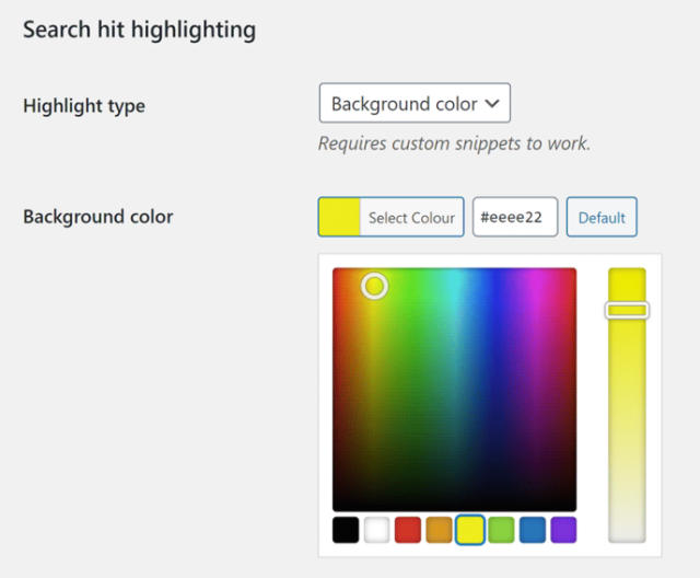 Selecting Background Colour