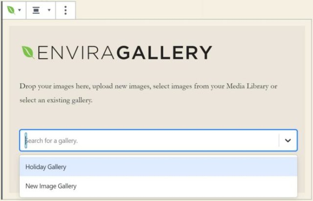 Select a Gallery