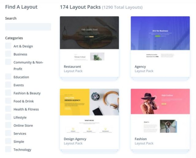 Divi Layout Library