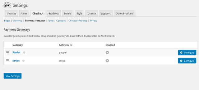 LifterLMS vs WP Courseware: Payment Gateways