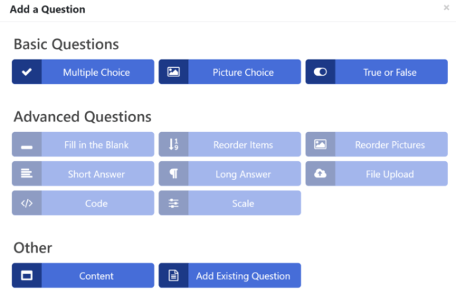 LifterLMS vs WP Courseware: LifterLMS Quiz Editor 2