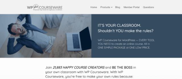 LifterLMS vs WP Courseware: WP Courseware home