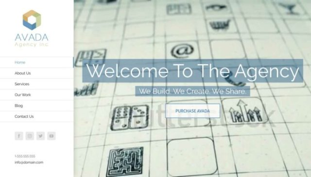 Avada WordPress Theme Agency Demo