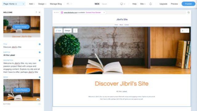 Wix vs WordPress: Wix site editing