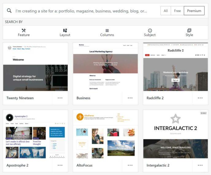 WordPress.com Theme Browser