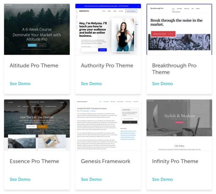 Flywheel StudioPress WordPress Themes