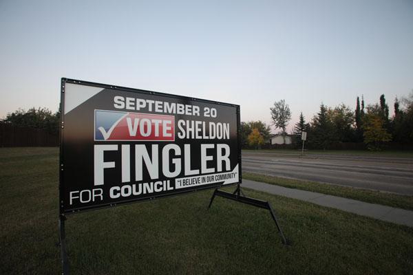 Winnipeg Election Portable Signs