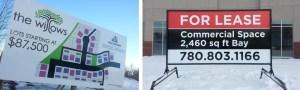 Winnipeg commercial real estate sign