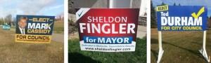 Winnipeg election sign