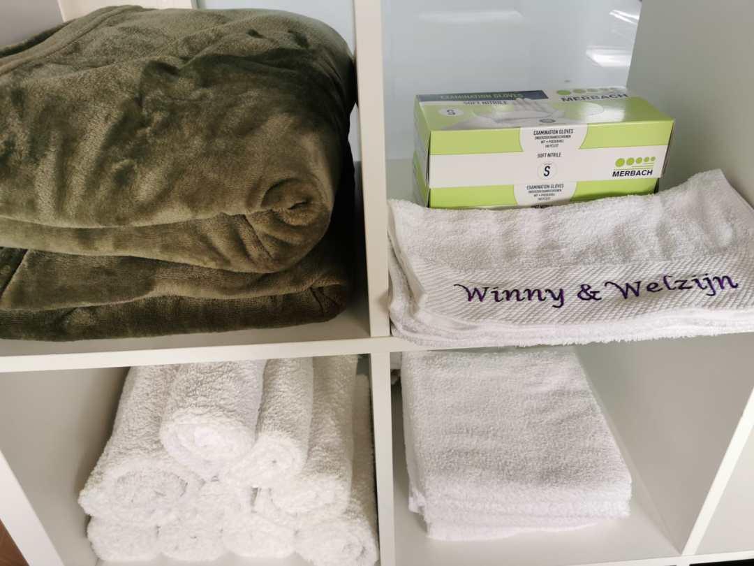 Winny Welzijn handdoeken voor beautybehandelingen