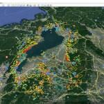 滋賀県「土砂災害警戒区域」をグーグルアースで「3D見える化」