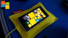 The Fatboy wireless charging pillow. Just plop your Lumia 920, or Lumia 820 (with a wireless charging shell) on to this pillow and watch your device get charged up fast.