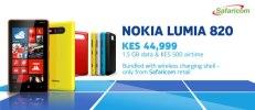 Safaricom's offer for the Nokia Lumia 820.
