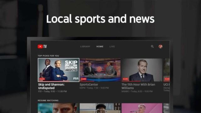 YouTube televisión Deportes