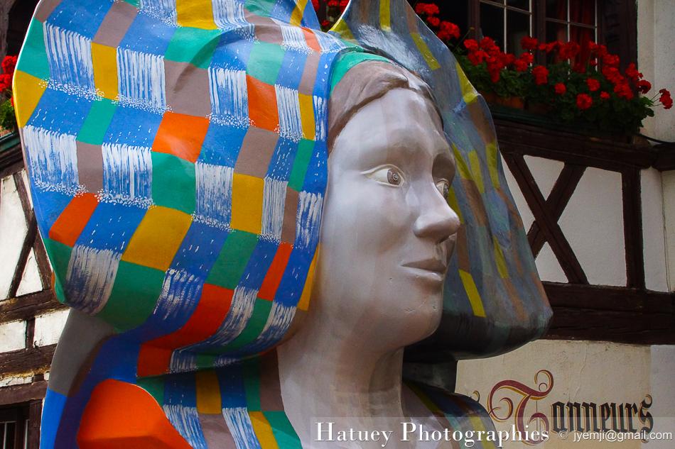 10 Statues de coiffes d'Alsaciennes