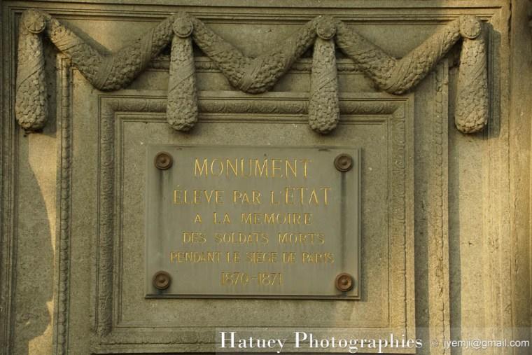 """Paris, Cimetiere du Pere Lachaise, Mémoire des soldats morts pendant le siège de Paris """"©Hatuey Photographies"""