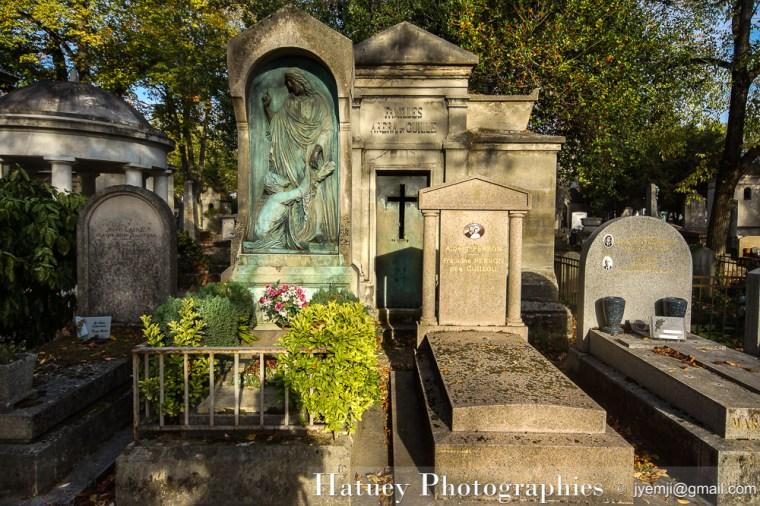 """Paris, Cimetiere du Pere Lachaise , Photographies de la tombe de TRIQUETI Henry baron de """"©Hatuey Photographies"""""""