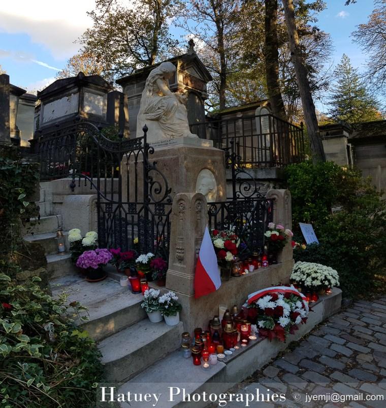 """Paris, Cimetiere du Pere Lachaise , Photographies de la tombe de Frédéric CHOPIN """"©Hatuey Photographies"""""""