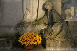 """Paris, Cimetiere du Pere Lachaise , Photographies de Paris, Cemetery Graveyard Cementerio Cimitero Friedhof , Cimetiere du Pere Lachaise , Photographies de la tombe de Marie BUCELLE (1888-1914) par """"©Hatuey Photographies, Fleurs"""