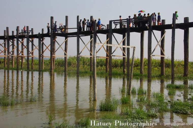 Asie, Myanmar,U BEIN Bridge,Amarapura, Taung Tha Man Lake, Mandalay, Photographies, by © Hatuey Photographies