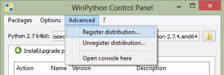 WinPython Register