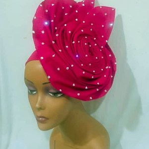 AutoGele Pink Fascinator - Ready To Wear Gele
